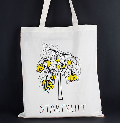 1411772 Tote Bag - Star Fruit Print