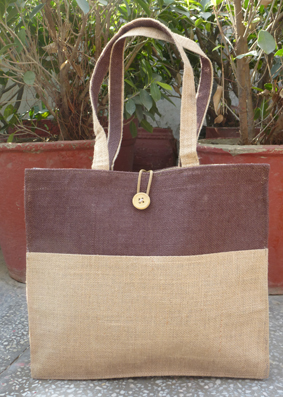 Double Tone Jute Bag - 5011646