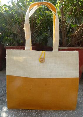 Double Tone Jute Bag - 5011647