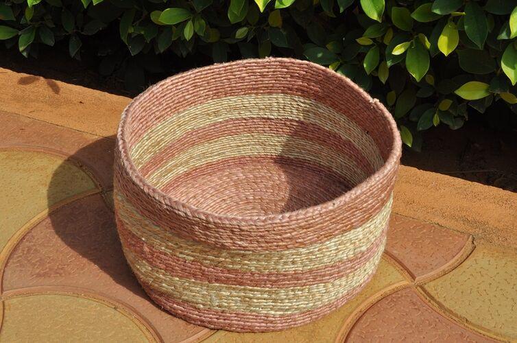 Natural Dyed, Jute Storage Basket
