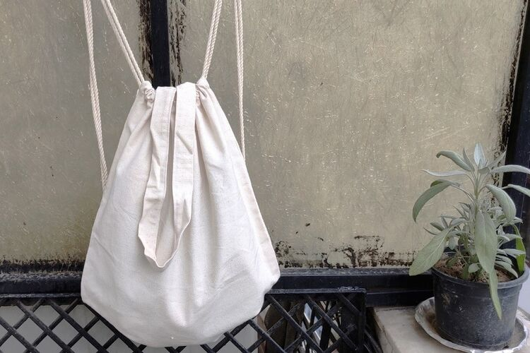 Organic Cotton Sling Backpack