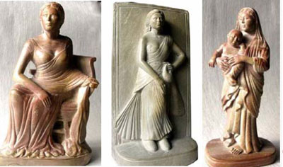 Carvings executed for MESH by Tarak Nath Roy