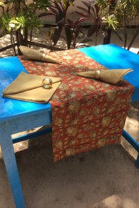 Natural Dyed - Table Runner - 6421180 and Napkin - 6415237