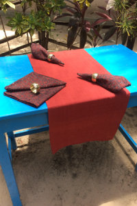 Natural Dyed - Table Runner - 6421181 and Napkin - 6415238