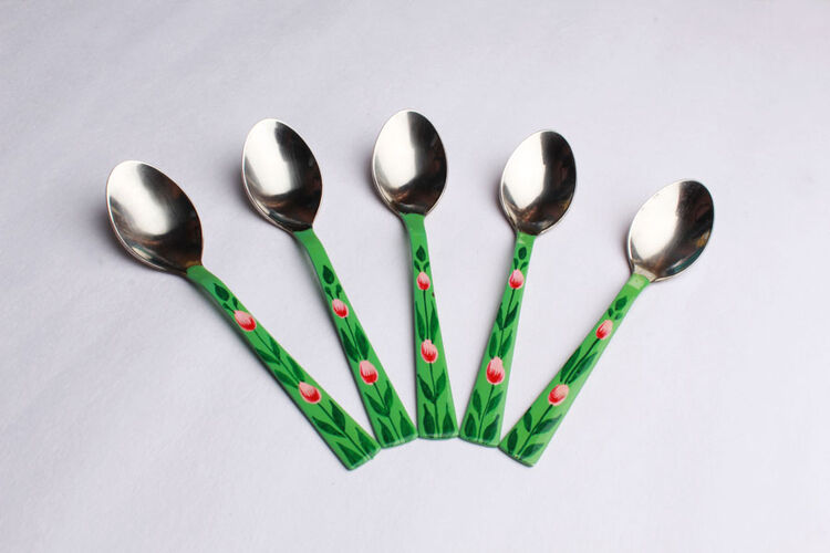 Set of 6 Hand Painted Spoons