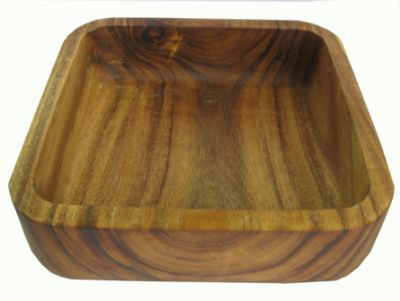 Square wooden bowl