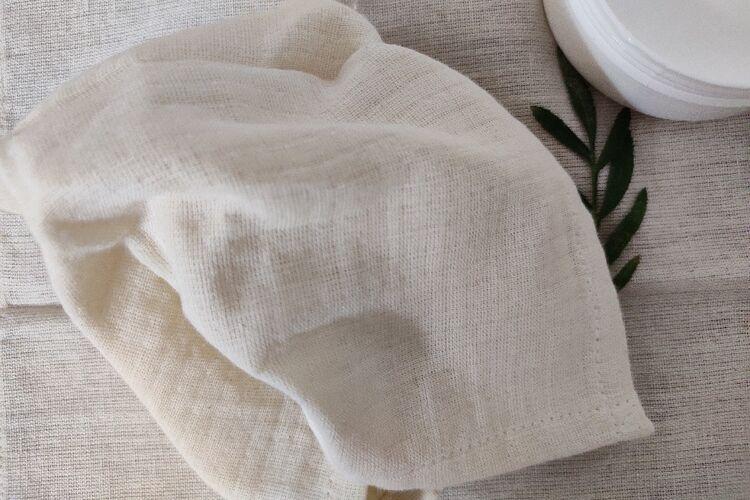 Organic Cotton Muslin Makeup Wipe