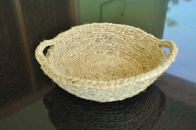 Jute Fruit Bowl with Handles