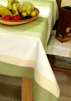 Fresh new 100% cotton handwoven tablecloth from BMKA