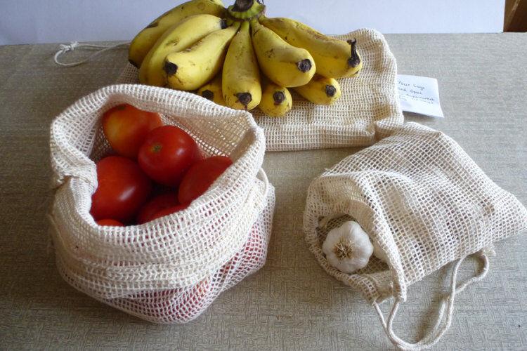 Organic Cotton Fruit and Veggie Bags