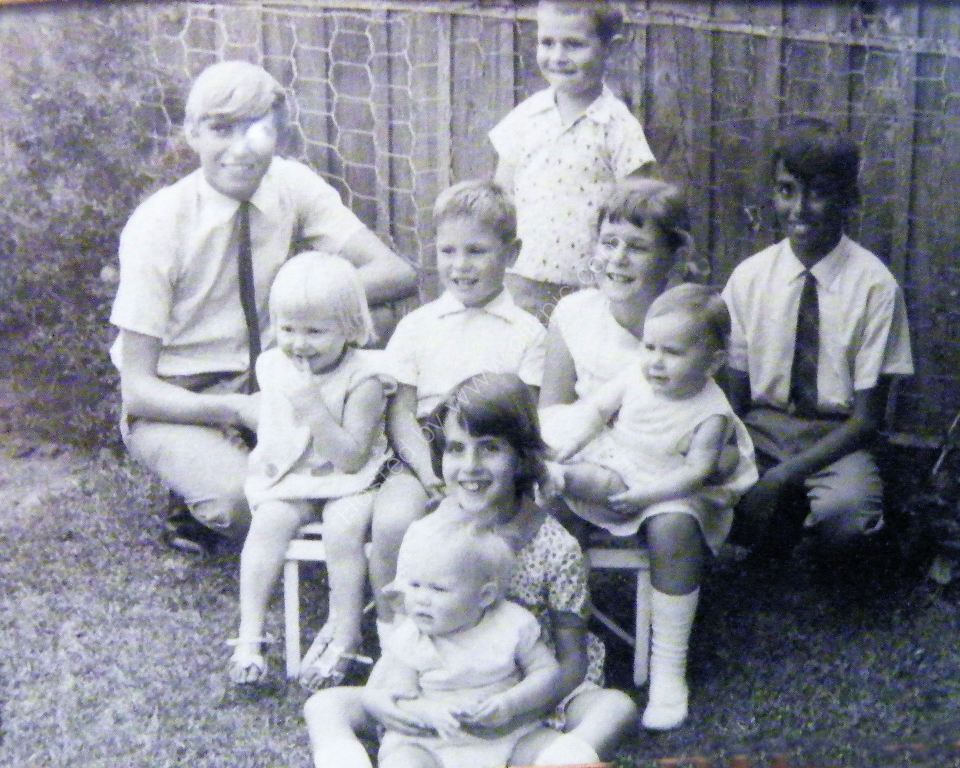 1967 Xmas with cousins at grandparents Kensington Gdns Adelaide