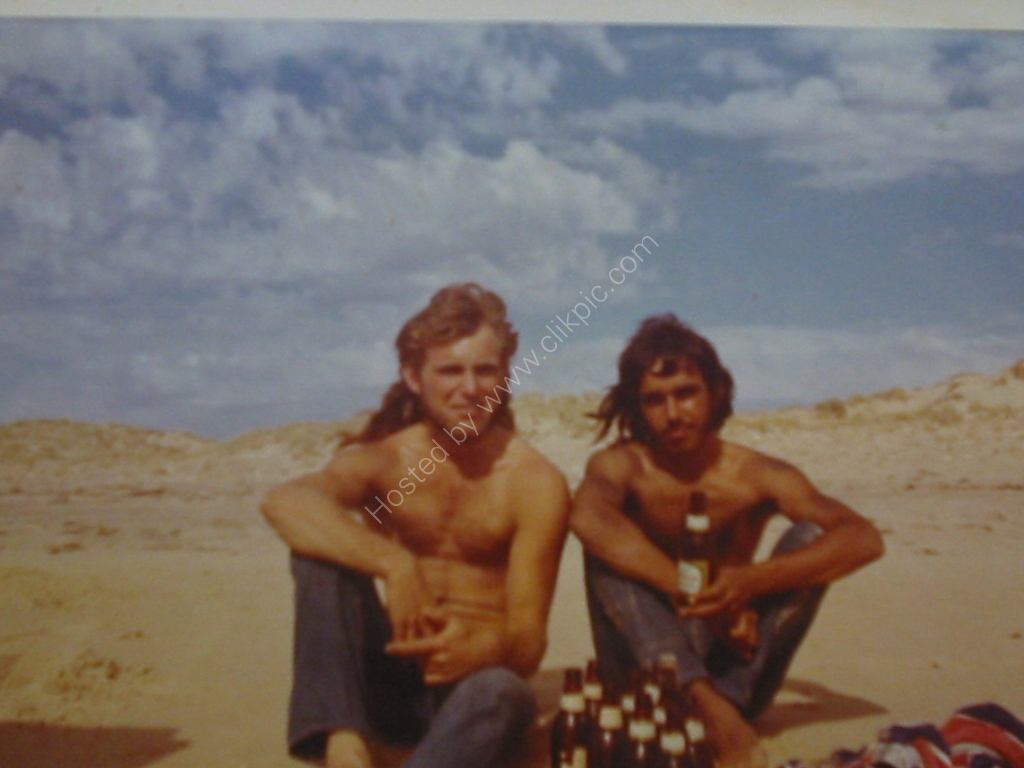 1973 Me n Tom at Maslins Bch pre nudity days
