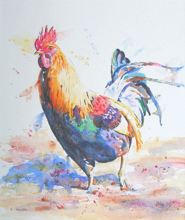 Cockerel, by David Wells