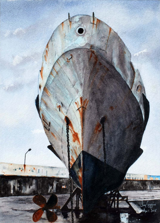 Old Ship at Yalta, by Jim Coggins