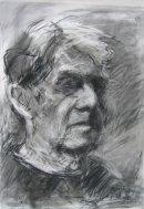 Self Portrait charcoal on paper 2014 71 x 56cm