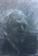 Self portrait charcoal on paper 2016 71 x 53cm