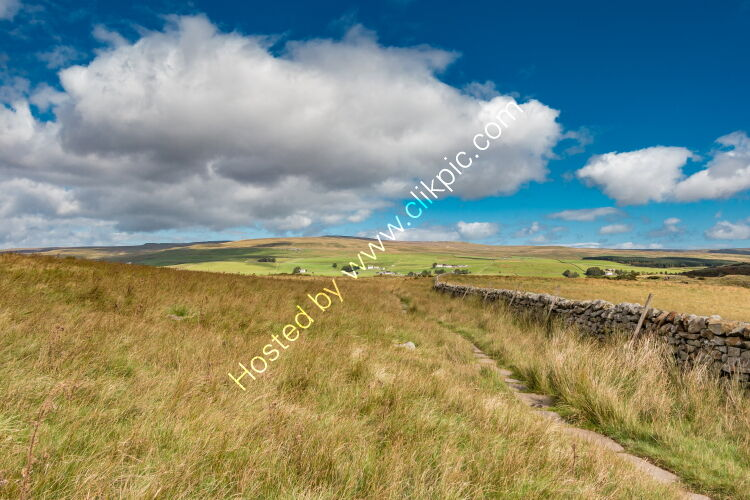 Towards Forest in Teesdale from the Pennine Way at Cronkley