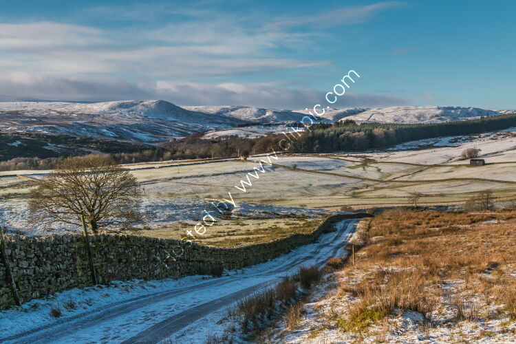 Snow Covered Cronkley Fell from Ash Hill