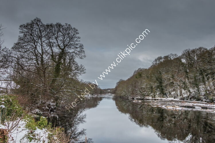 Winter Reflections in the Tees at Wycliffe.