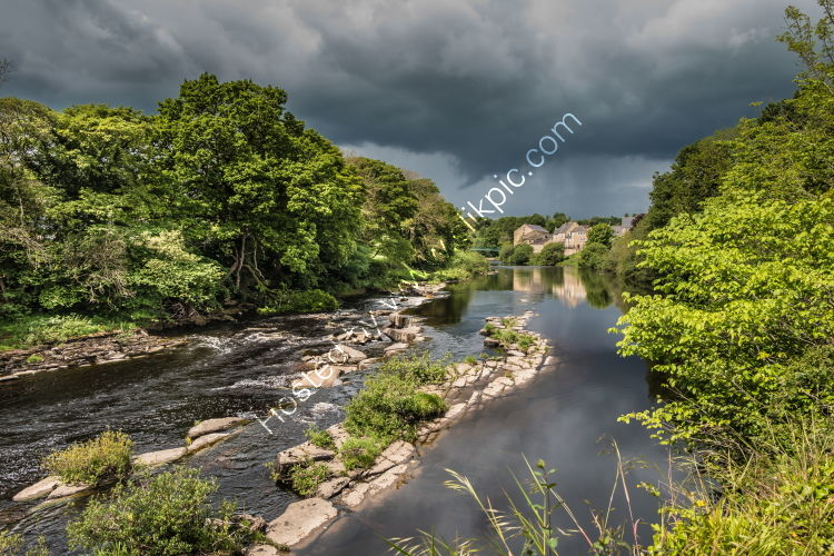 Dramatic Light on the Tees at Barnard Castle