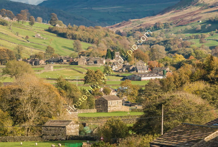 Muker, Swaledale from Scar House