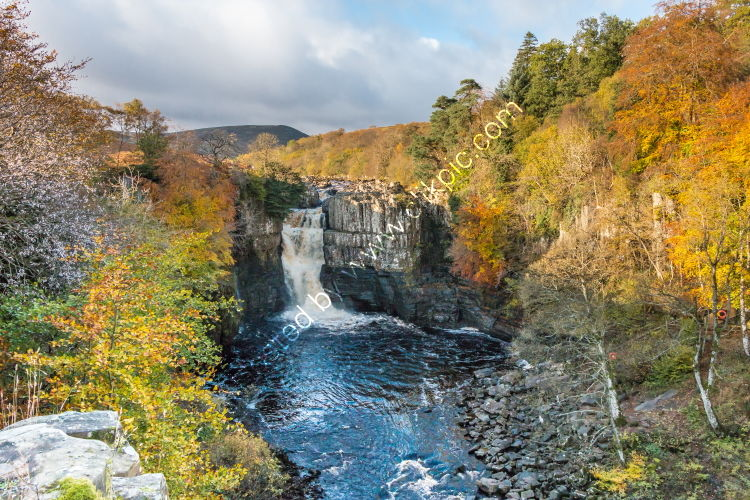 Autumn Colours at High Force Waterfall