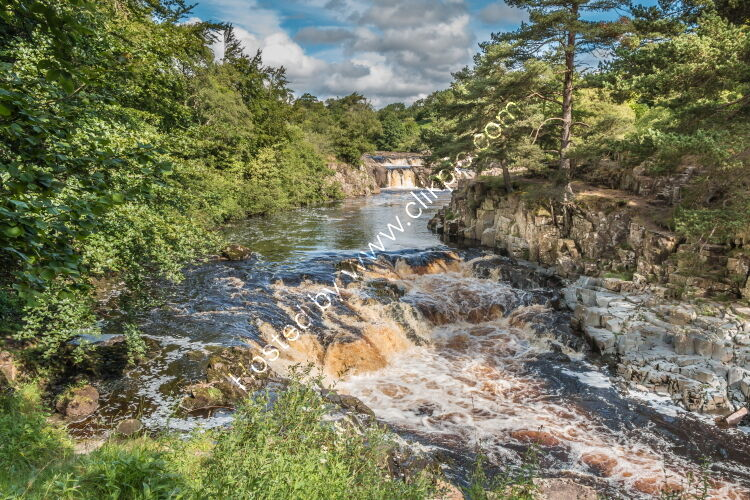 Low Force Waterfall from the Pennine Way in Summer