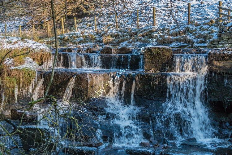 A Wintry Waterfall in Ettersgill