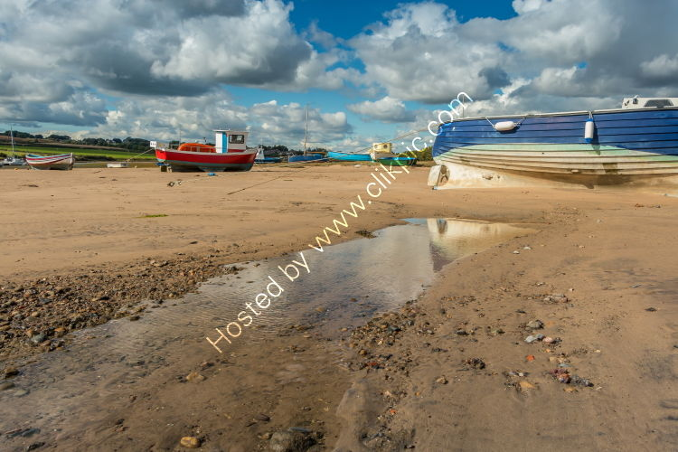 Alnmouth Harbour at Low Tide