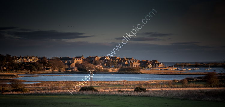 Evening light, Alnmouth Village and Harbour