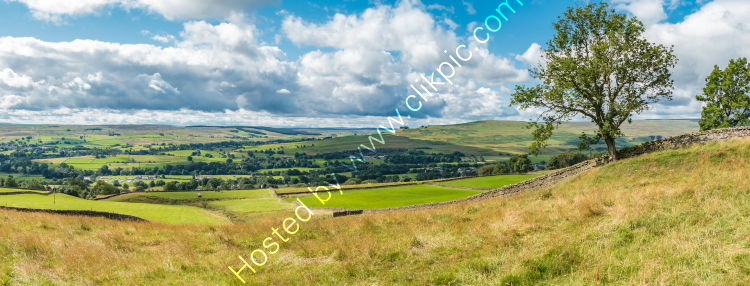 Over Teesdale to Lunedale from Blunt House Panorama