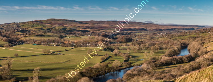 Teesdale from Whistle Crag Autumn Panorama