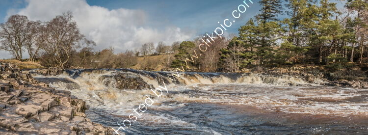 Low Force Cascade Panorama from the Pennine Way