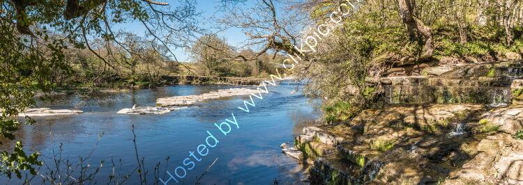 Whorlton Beck meets the River Tees Panorama