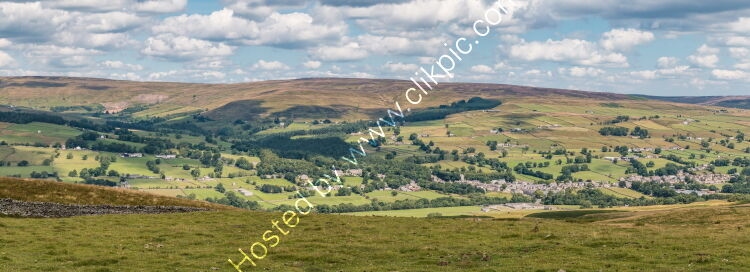 Middleton in Teesdale from the Pennine Way