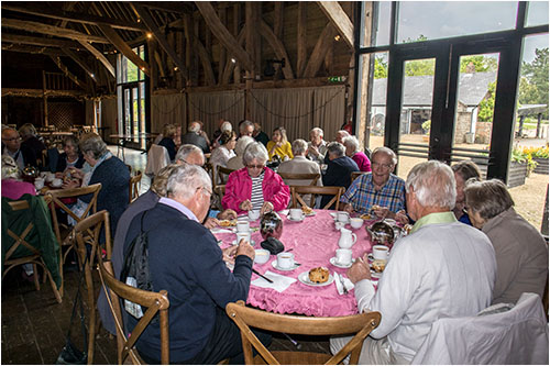 A nice cream tea, nice weather and nice company - what more could we want?
