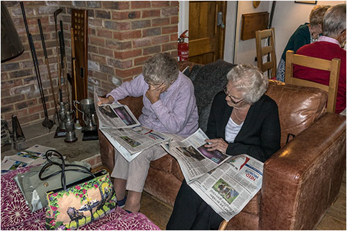 Audrey Stoner & guest, Eve Smale catching up on the news