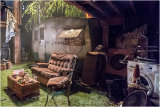 No, it's not my backyard - it is the set for the play!t