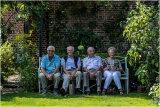 David Comber, David Hocken with John & Doreen Tessier in a nice shady spot