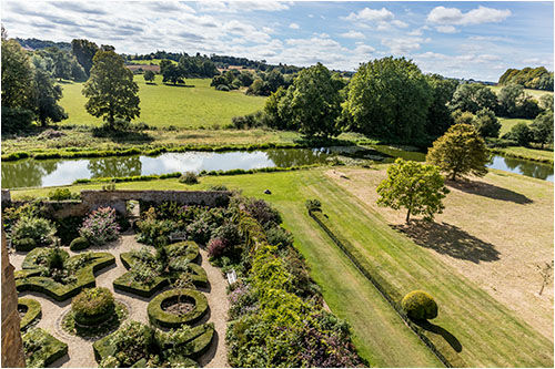 A view from the roof of Broughton Castle