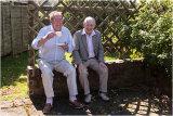 John Perry and Arthur Jones enjoying the sunshine