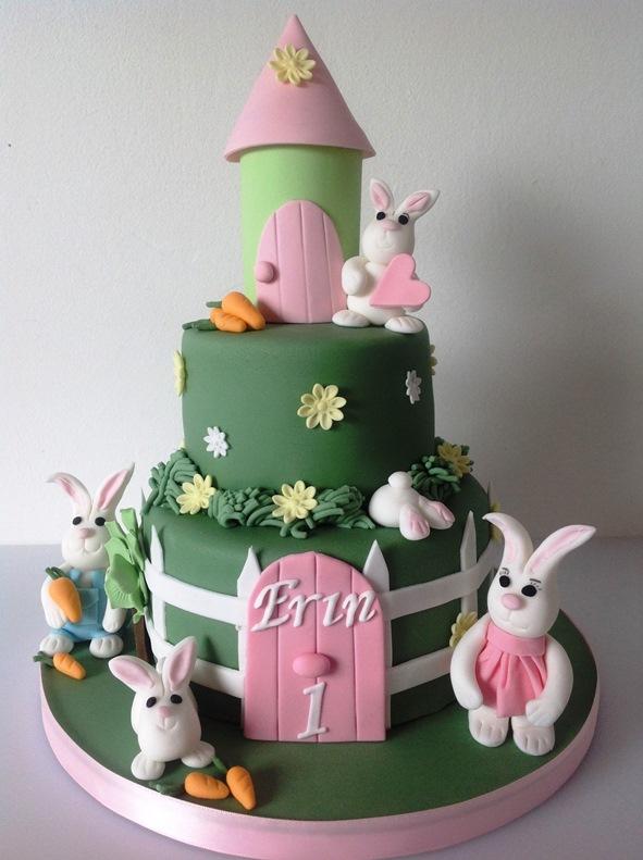 MacDonald Cake Company Bunny Rabbits Birthday