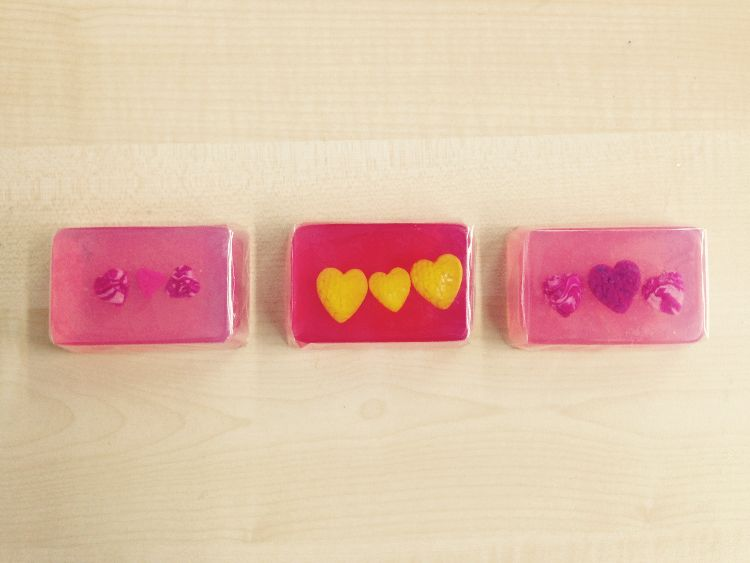 Button embed soaps