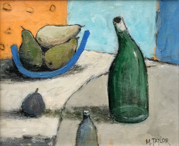 Fig And Bottle      Mixed Media       250mm x 300mm