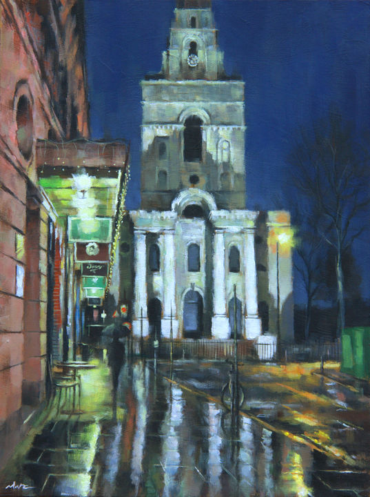 Christ Church in the Rain