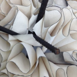 Sculpture - detail - Pelmet Vilene and iron rods