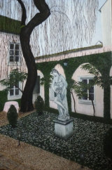 A Garden in Beaune - Greetings card