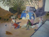 India - Nanital - Print reworked in oil on canvas