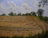 The Stubble Field - Greetings card