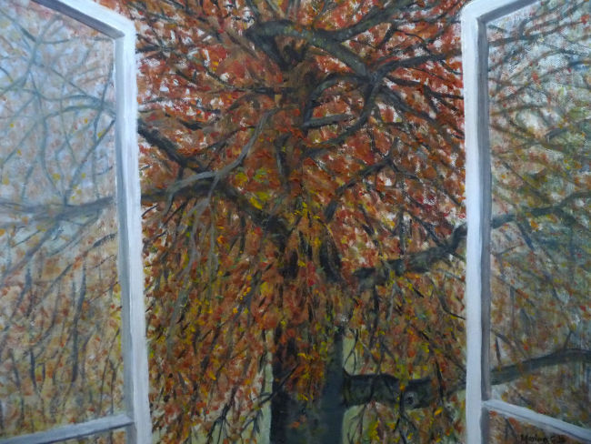 Triptych - The Tree Across the Road - Autumn